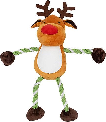 GoodBoy Christmas Dog Toys - Large Hug Tug Reindeer - 60cm