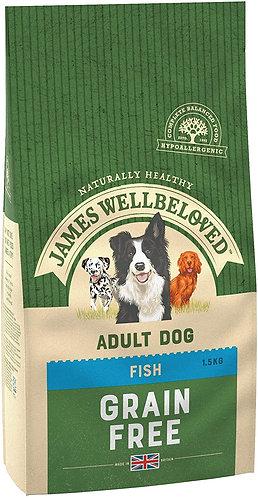 James Wellbeloved Dog Food Fish & Veg Adult Grain Free (1.5kg)