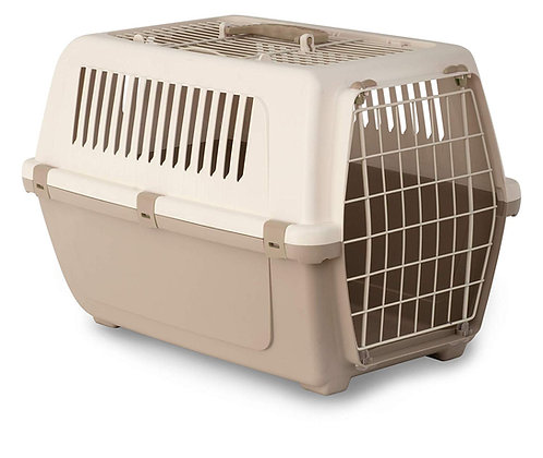 Rosewood Vision Free 2 Door Top Opening Cat and Pet Carrier 55 cm, Mocha