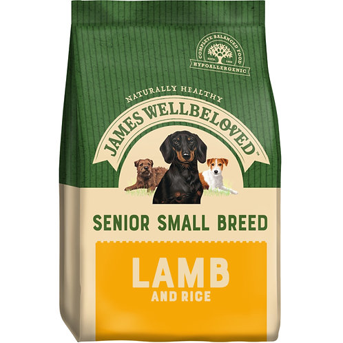 James Wellbeloved Dog Food Lamb and Rice Senior Small Breed (1.5kg)