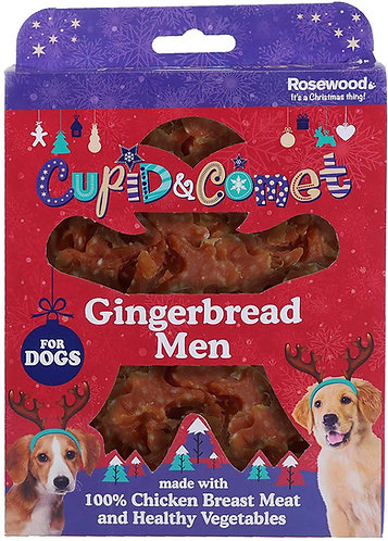 Rosewood Gingerbread Men Treat Gift Box for Dogs 160g