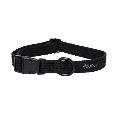 Gor Pets Gor Cotton Dog Collar Large Black