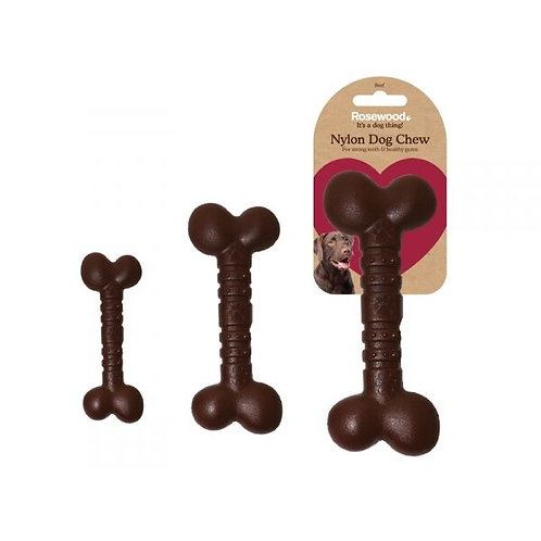 Rosewood Tough Toys Chocolate Nylon Dog Chew - Small