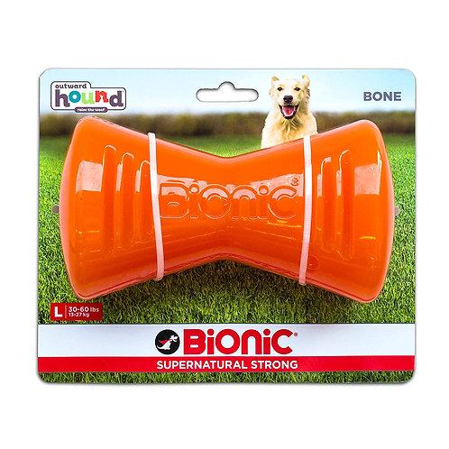 Outward Hound Bionic Tough Rubber Dog Bone Treat Toy Large