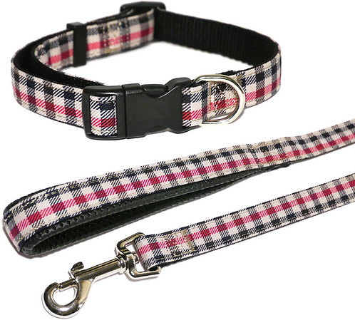 Rosewood Wag 'N' Walk Red Check Collar