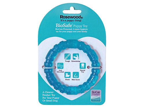Rosewood BioSafe Puppy Ring Blue
