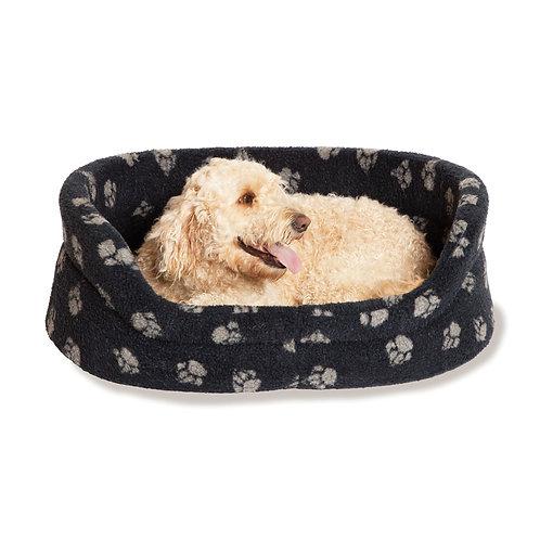 Danish Design Sherpa Fleece Navy Slumber Dog Bed