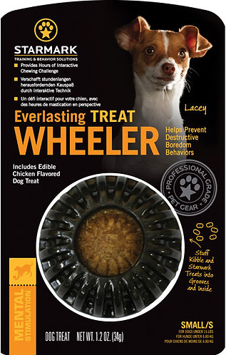 Starmark Everlasting Treat Wheeler Chew Treat Toy