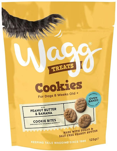 Wagg Cookie Treats Peanut Butter & Banana 125g