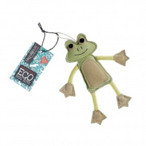 Green & Wilds Francois Frog Eco Dog Toy