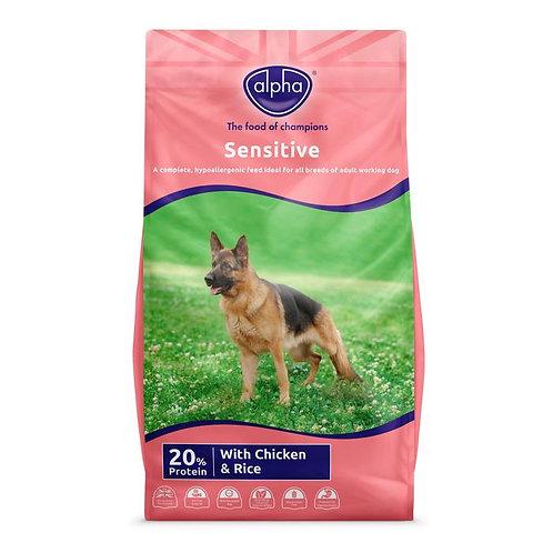 Alpha Sensitive Complete Dog Food 15kg