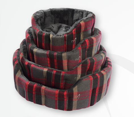 Gor Pets Camden Deluxe Bed - Red Check