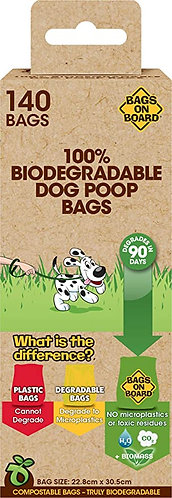 Bags on Board Corn Starch 100% Biodegradable Poop Rolls
