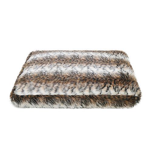 Rosewood Brown Cosy Fur Print Mattress - Large