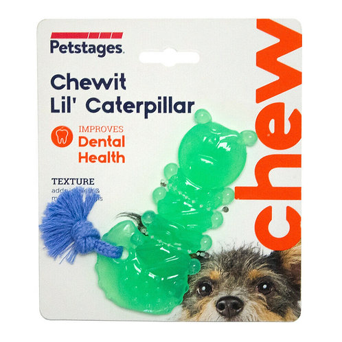 Petstages Chewit Lil' Caterpillar Puppy & Small Dog Toy