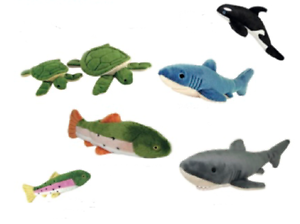 Fluff & Tuff Underwater Collection Durable Plush Toys