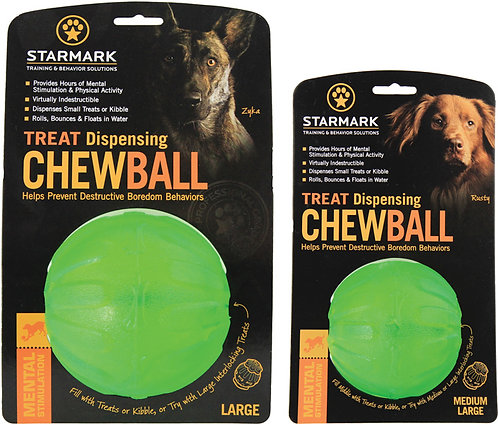 Starmark Treat Dispensing Chewball - Medium