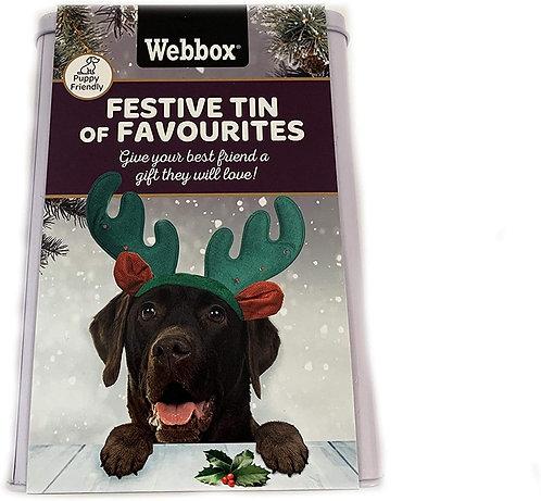 Webbox Dog Festive Tin of Favourites, 625g