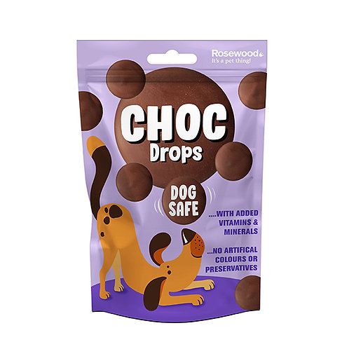 Rosewood Choc Drops for Dogs 200g