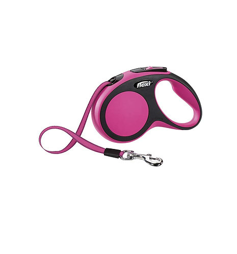 Flexi New Comfort Retractable Tape Lead, Medium, 5 m, Pink