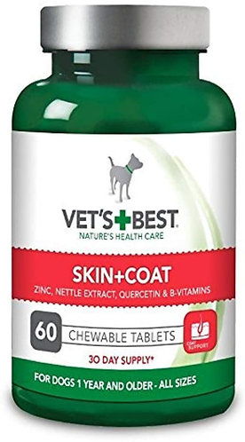 Vets Best Skin and Coat Tablets 60pc