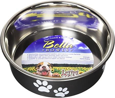 Loving Pets Bella Bowls Small-Espresso