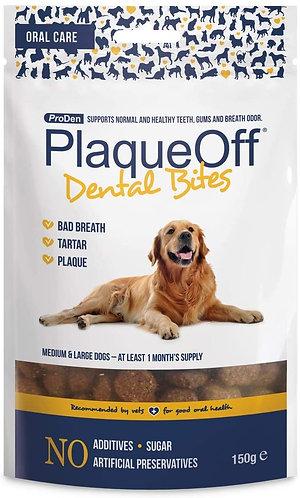 PlaqueOff Dental Bites for Medium & Large Dogs 150g