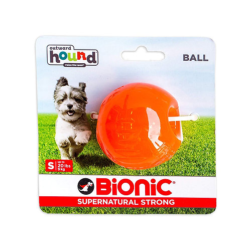 Outward Hound Bionic Tough Rubber Dog Ball Treat Toy Small