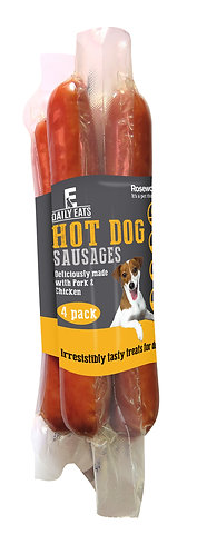 Rosewood Daily Eats Hot Dog Sausages 4pk