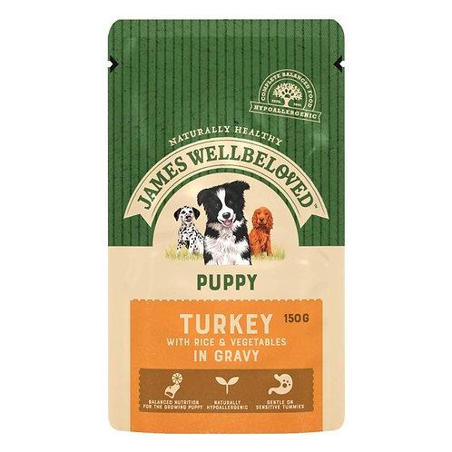 James Wellbeloved Puppy Dog Pouch Turkey 10 x 150g
