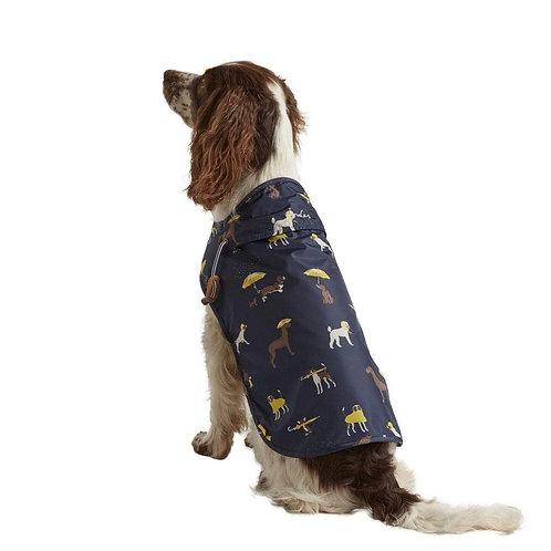 Joules Navy Dog Raincoat - Medium