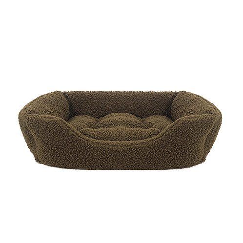 Rosewood Green Pile Fleece Square Bed - Small