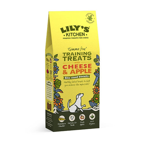 Lilys Kitchen Training Treats with Cheese & Apple 100g
