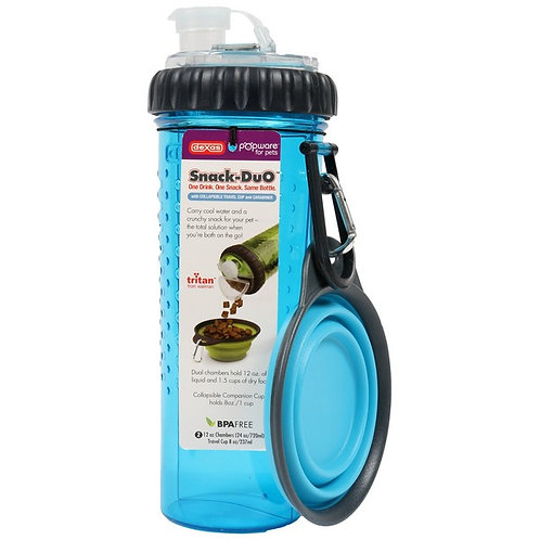 Dexas Popware Snack-Duo Blue with Travel Cup