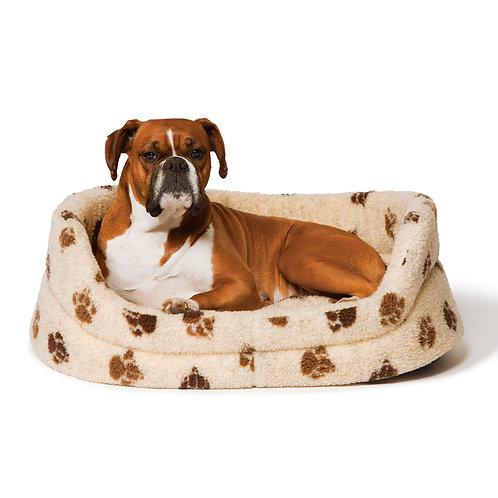 Danish Design Sherpa Fleece Beige Slumber Dog Bed