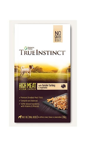 True Instinct Pouch Turkey Fillet Small Breed Dog 8x150g