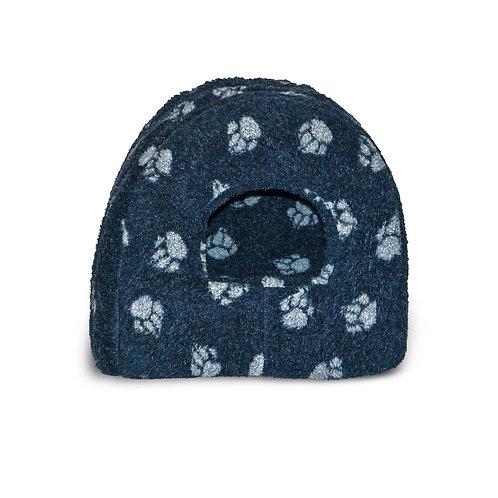 Danish Design Sherpa Fleece Navy Pet Igloo Bed