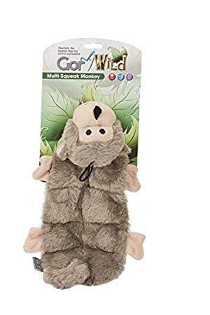 Gor Pets Wild Multi-Squeak Monkey Toy