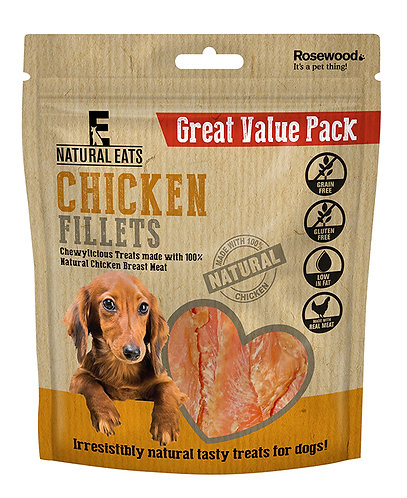 Rosewood Natural Eats Chicken Fillets Value Pack 400g
