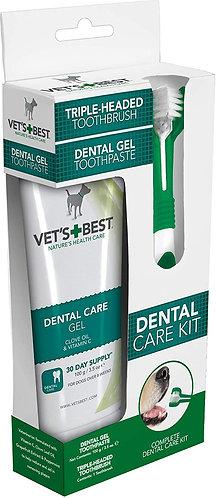 Vets Best Dental Care Kit For Dogs Brush + Gel