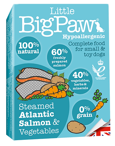Little Big Paw Dog Steamed Salmon & Veg Dinner 7x150g