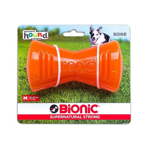 Outward Hound Bionic Tough Rubber Dog Bone Treat Toy Medium