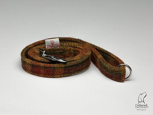 Collared Creatures Autumnal Check Luxury Harris Tweed Dog Lead