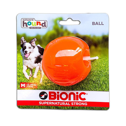 Outward Hound Bionic Tough Rubber Dog Ball Treat Toy Medium