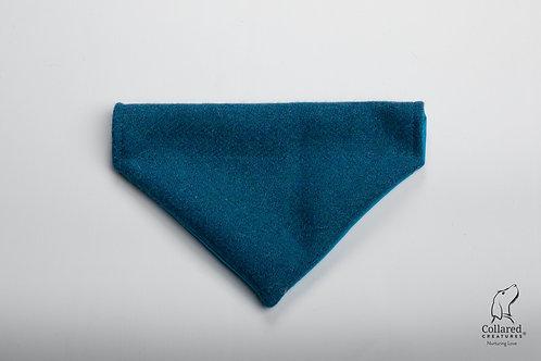 Collared Creatures Teal Herringbone Luxury Harris Tweed Dog Bandana