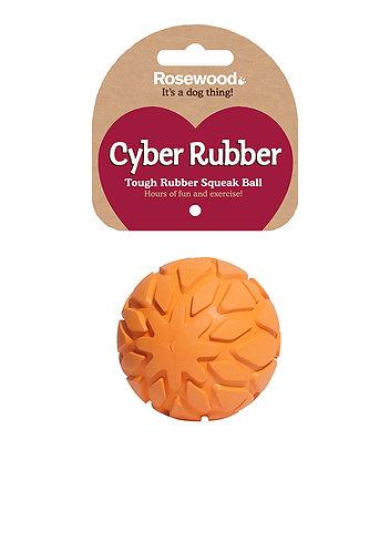 Rosewood Cyber Rubber Tough Squeak Ball