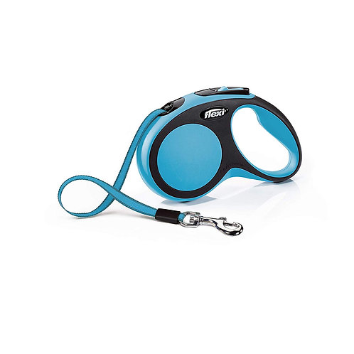 Flexi New Comfort Retractable Tape Lead, Medium, 5 m, Blue