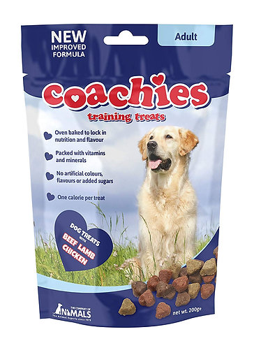 COACHIES Training Treats, 200g Beef, Lamb & Chicken