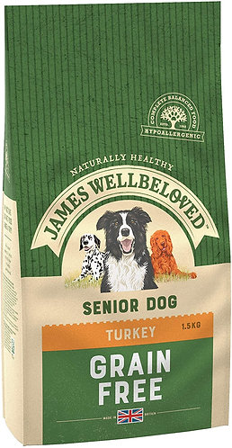 James Wellbeloved Dog Food Turkey & Veg Senior Grain Free (1.5kg)