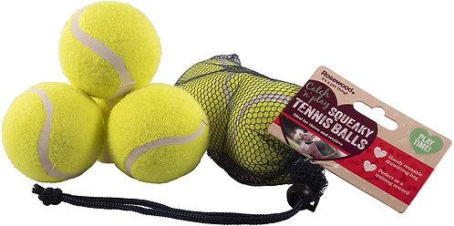 Rosewood 3pk Squeaky Tennis Balls